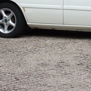 Permeable gravel car park