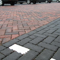 Permeable paving car park