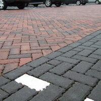 Permeable paving car park