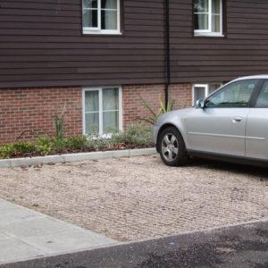 Permeable gravel parking